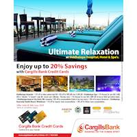 Enjoy up to 20% Savings with Cargills Bank Credit Cards at Siddhalepa Hospitals, Hotels & Spa's