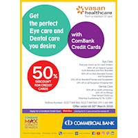 Get up to 50% Discount for Combank Cards at Vasan Healthcare