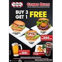Buy 3 Get 1 FREE at TGI Fridays Sri lanka