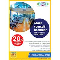 Get 20% Discount for ComBank Credit Cards at Body Doc