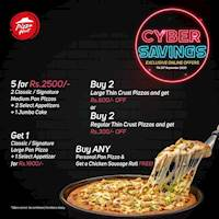 Pizza Hut CYBER SAVINGS this September for orders made online