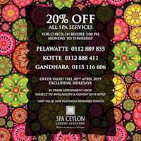 Enjoy 20% Off at Spa Ceylon Luxury Ayurveda