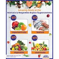 Amazing Deals at the Wattala & Negambo Arpico Supercentres