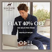 Enjoy 40% off on selected Sacoor Brothers apparels at Odel - One Galle Face Mall
