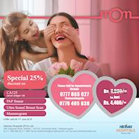 Celebrate this year Mother's Day by offering her the gift of wellness exclusively from Hemas Hospital