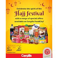 Celebrate the spirit of the Hajj festival with a range of special offers available at Cargills FoodCity