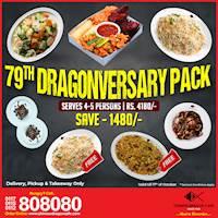 79th Dragonversary Pack (Save Rs. 1480) at Chinese Dragon Cafe!