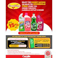 Enjoy the BIGGEST SAVINGS on Selected Household Items When You Order Through Cargills Outlet 2 Home!