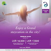 Enjoy a Grand staycation in the City at Cinnamon Grand
