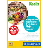 Enjoy 20% Discount on Fresh Vegetables, Fruits and Seafood for Combank Credit Cards at Keells