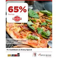 Enjoy 65% Savings on the total bill at Mama Louie's with DFCC Credit Cards