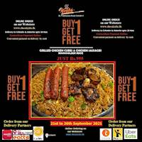 Buy One Get one Free at The Sizzle