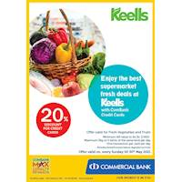 Enjoy 20% Discount at Keells for ComBank Credit Cards
