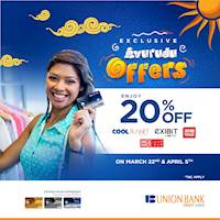 Enjoy 20% off when you shop with your Union Bank credit card at Cool Planet, Exhibit, Ximi Vogue & Nick Nack