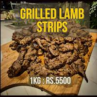 Grilled Australian Lamb Shoulder Stripes with Hot Mint Sauce (1kg)