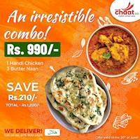 Irresistible Combo for Rs 990 at Thechaatco