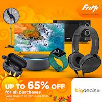Enjoy up to 65% off on all purchases from www.bigdeals.lk via FriMi