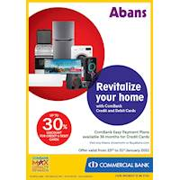 Enjoy up to 30% Discount for ComBank Credit and Debit Cards at Abans