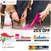 Look fabulous with your Union Bank Credit Card! Shop at Di, Bata or Helanka until the 15th and 25th of April to receive an exclusive discount.