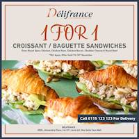 1 For 1 Offer at Delifrance One Galle Face Mall