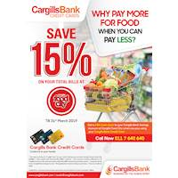 Save 15% on your total bills at Cargills Food City