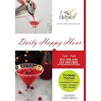 Daily Happy hour at The Bayleaf