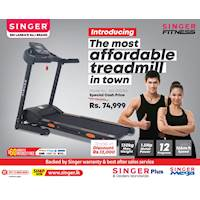 Treadmill Offer From Singer with 60 Months Installment and Interest FREE