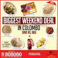 Save Rs. 960 with Biggest Weekend Deal in Colombo at Chinese Dragon!