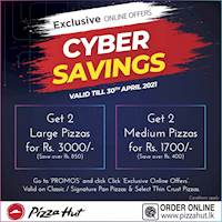 Pizza Hut CYBER SAVINGS this APRIL!!