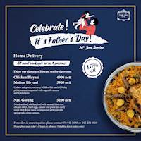 Enjoy signature biryani set menu from Galle Face Hotel for this Father's Day