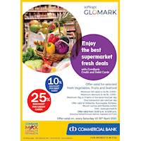 Enjoy up to 25% discount for Combank Credit and Debit Cards at Softlogic Glomark
