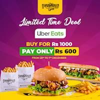 Buy For Rs. 1000 Pay only Rs. 600 on Uber Eats from The Foodcycle