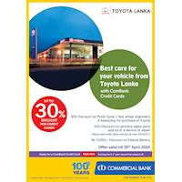 30% Discount on Pirelli Tyres + Free wheel alignment & balancing for purchase of 4 tyres and more with ComBank Cards