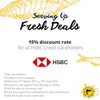 15% Discount for HSBC Credit Card Holder at Manhattan Fish Market