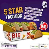 5 Star Taco Box at Taco Bell
