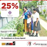 Enjoy 25% savings on Admission Fees at Polymath College with DFCC Cards!