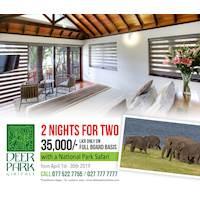 Rs. 35,000/- Full board basis with National Park Safari at Deer Park
