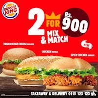 Burger King 2 for 900/- Offer!!