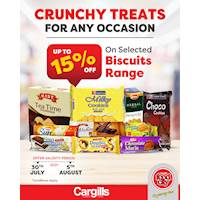 Get up to 15% OFF on selected biscuits range at Cargills FoodCity