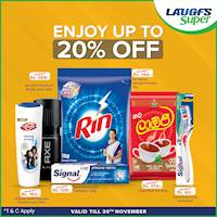 Save up to 20% on selected UNILEVER products on www.laugfssuper.com
