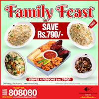 Save Rs. 790 with Family Feast (Rs.3760/ for 4) at Chinese Dragon Cafe!