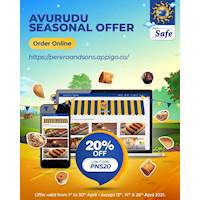 Enjoy 20% off this Avurudu Season when you shop online using our Webstore https://pereraandsons.appigo.co