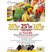 Get up to 20% for BOC Cards at Softlogic Glomark Every Monday During This Season.