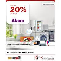 Enjoy up to 20% savings at Abans with DFCC Credit Cards!
