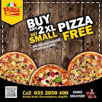 Buy Any 2 XL Pizza and get Small Pizza Free at Italian Pizza Express