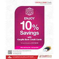 Enjoy 10% off at Midnight Divas when you shop with your Cargills Bank Credit Card