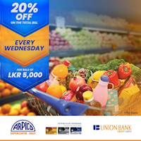 Shop at Arpico with your Union Bank credit card & enjoy 20% off on your total bill!
