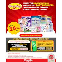 Enjoy the BIGGEST SAVINGS on Selected Baby Products When You Order Through Cargills Outlet 2 Home!