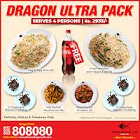 Dragon Ultra Pack (Rs. 2935/ for 4) at Chinese Dragon Cafe!!!