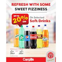 Get up to 20% off on selected range of soft drinks at Cargills FoodCity